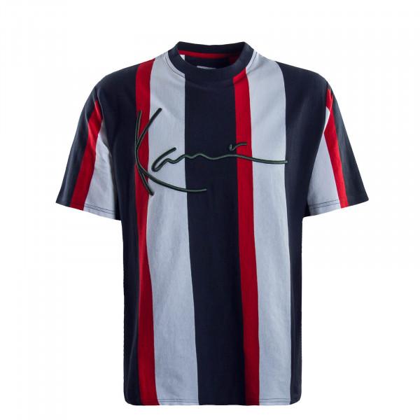 Herren T-Shirt  Signature Stripe Navy Red White