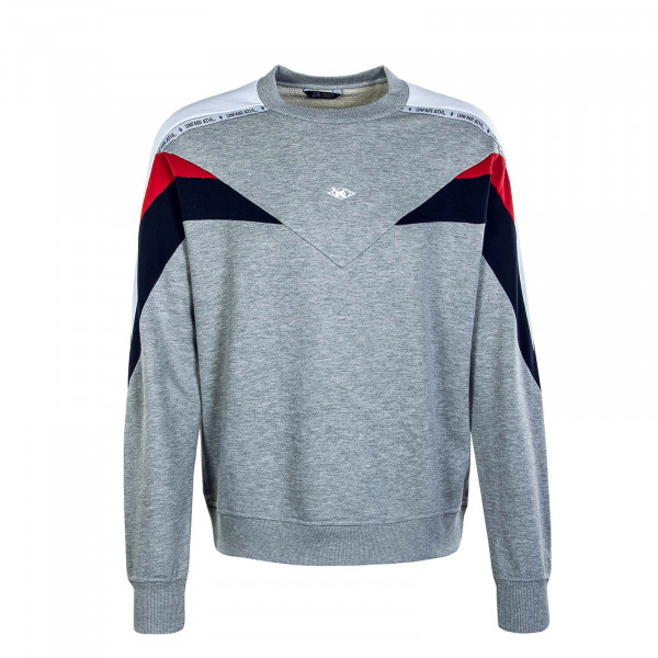 Herren Sweat Hash Panel Crewneck Mixed Grey