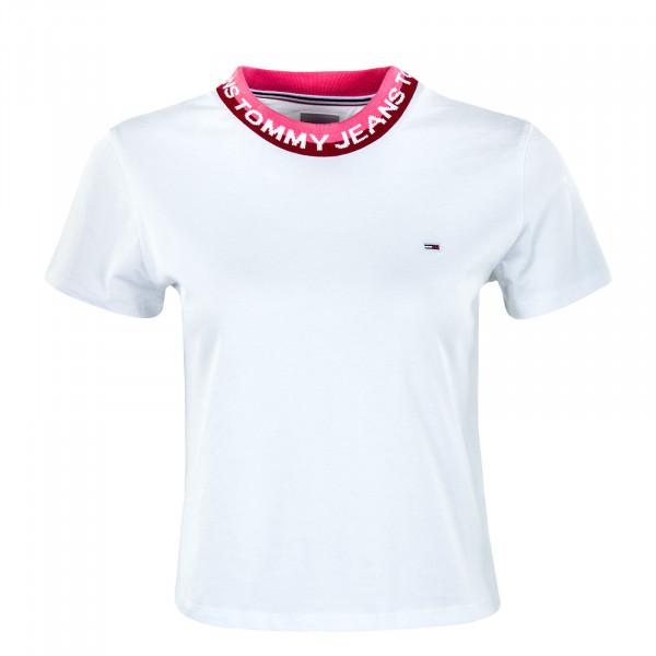 Damen Crop Top - Branded Rib - White
