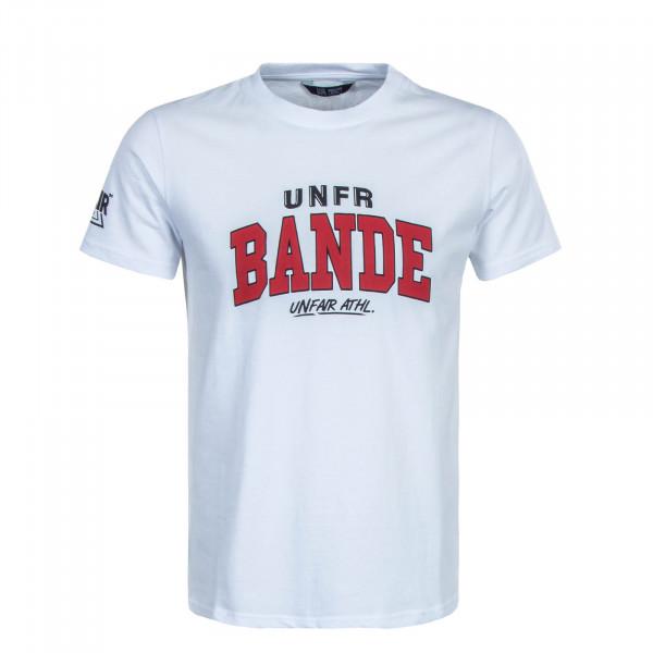 Herren T-Shirt Bande White