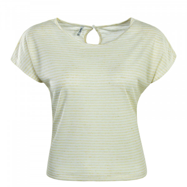 Damen T-Shirt Winnie Stripe Yellow White