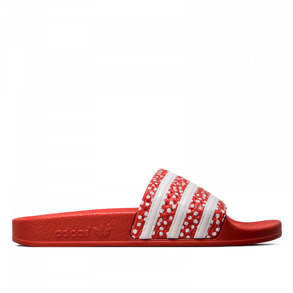 Damen Adilette - White / Red