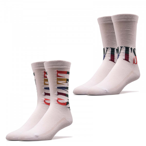 Socken Reg Cut Split Tall Lo White