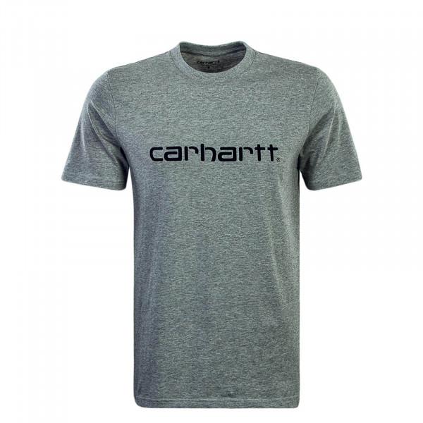 Herren T-Shirt Script Grey Black