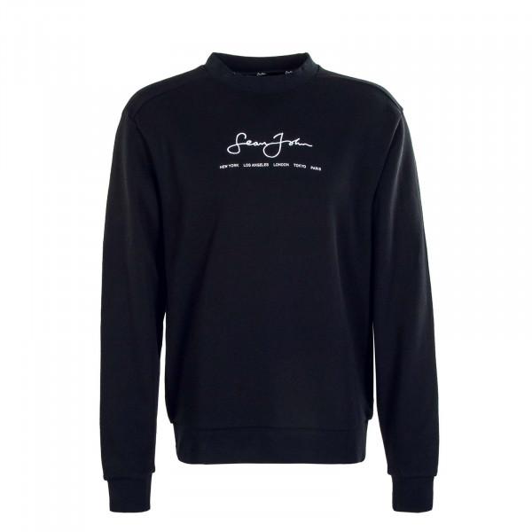 Herren Sweatshirt - Classic Logo Essential Crew - Black