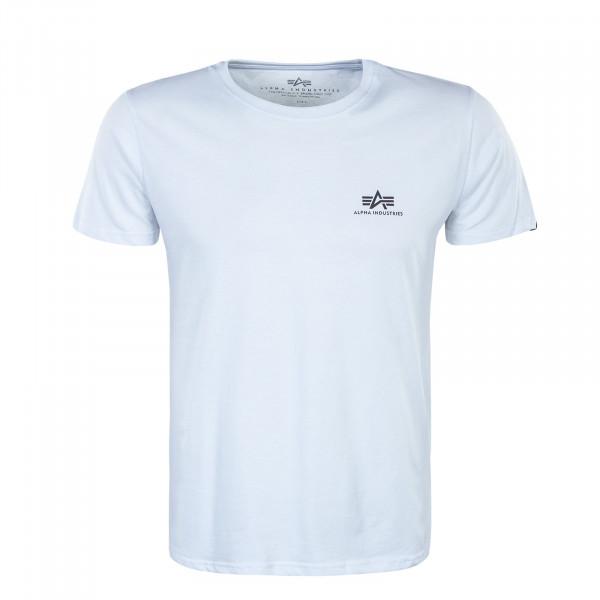 Herren T-Shirt -  Small Logo Black Rainbow Reflective - White