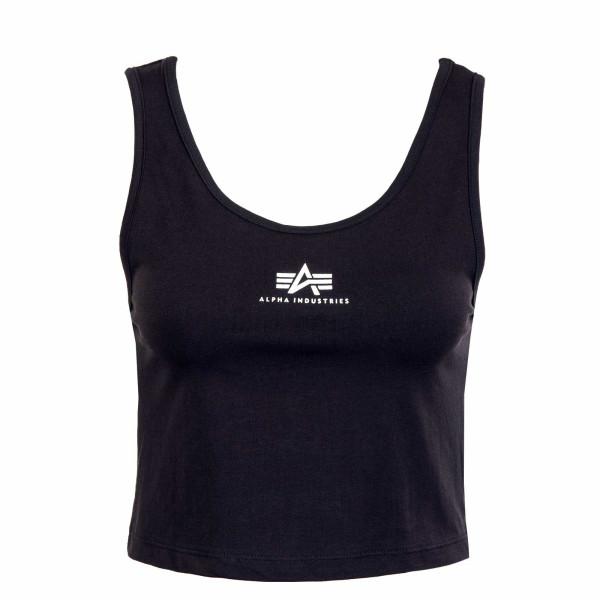 Damen Top - Basic Crop SL - Black