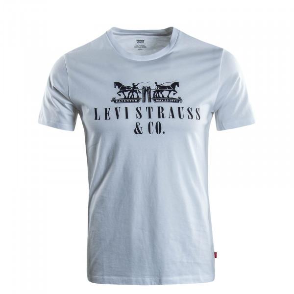 Herren T-Shirt Horse Graphic White Black