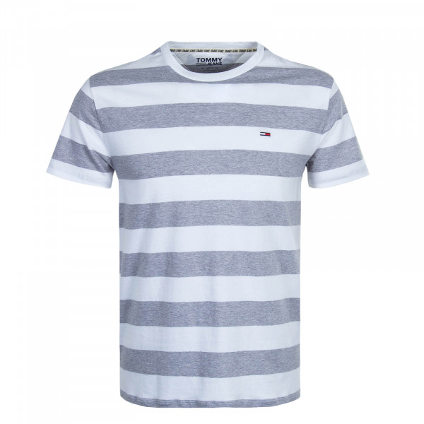 Herren T-Shirt 7810 Bold Stripe White Grey