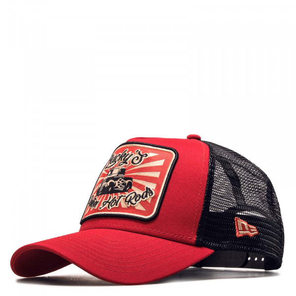Trucker-Cap Hot Rod Red Black