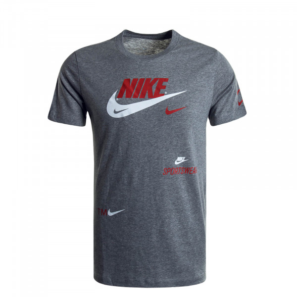 Herren T-Shirt 0078 Grey Red