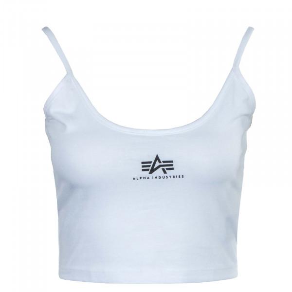 Damen Top - Basic Crop - White