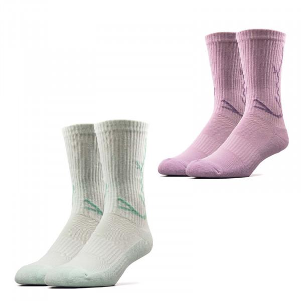 Socken - 2er-Pack Signature - Lila / Mint