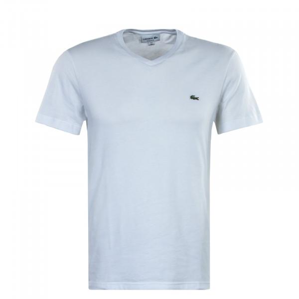 Herren T-Shirt - Short Sleeved V Neck 2036 - White
