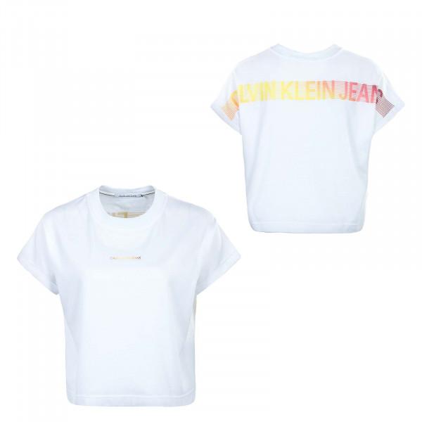 Damen T-Shirt - Degrade Back Logo 6247 - Bright / White