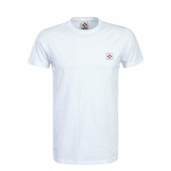 Herren T-Shirt Mini Glyph White Red