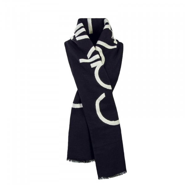 CK Scarf Needle Punch Black White