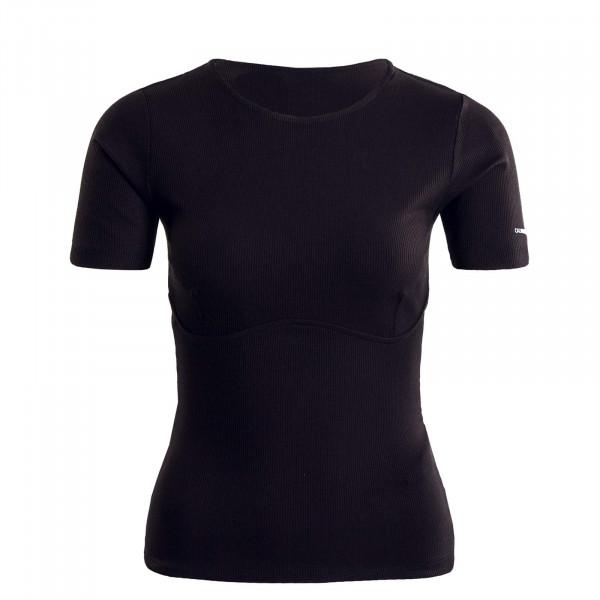 Damen Ripp Shirt -Corset Rib - Black