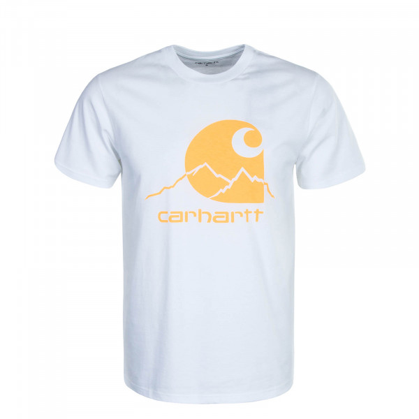 Herren T-Shirt Outdoor White Orange