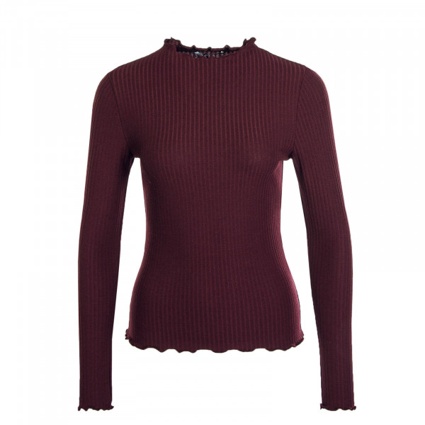 Damen Longsleeve Emma High Neck Madder Brown