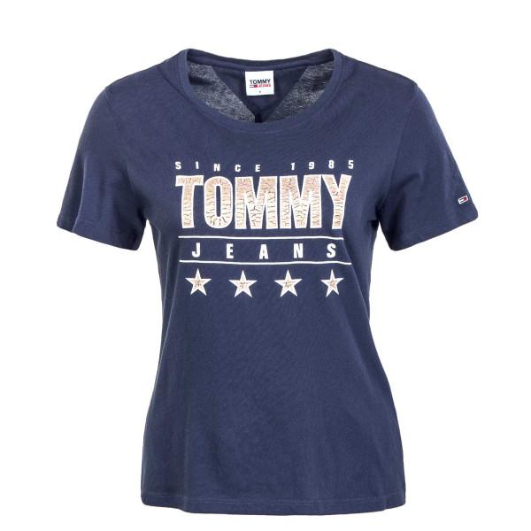 Damen T-Shirt - Slim Metallic 10197 - Twilight / Navy