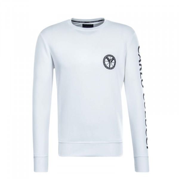 Herren Sweatshirt - C3605 - White Black
