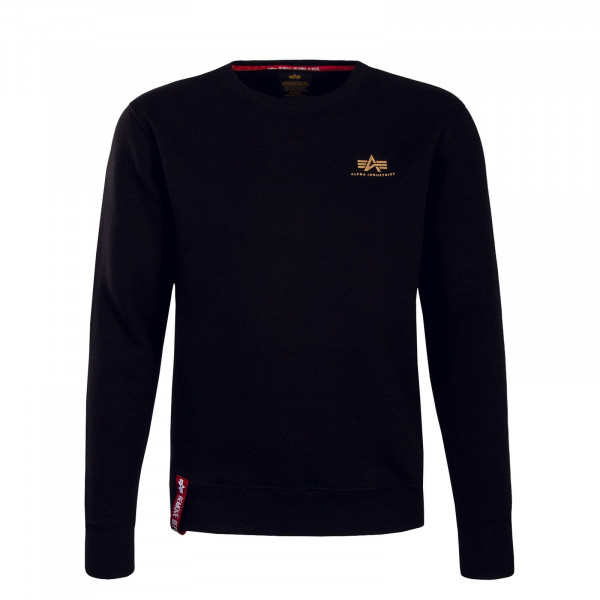 Alpha Sweat Basic Sweater Small BlkGold