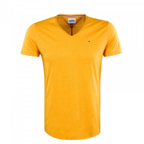 Herren T-Shirt - Slim Jaspe V-Neck - Florida Orange