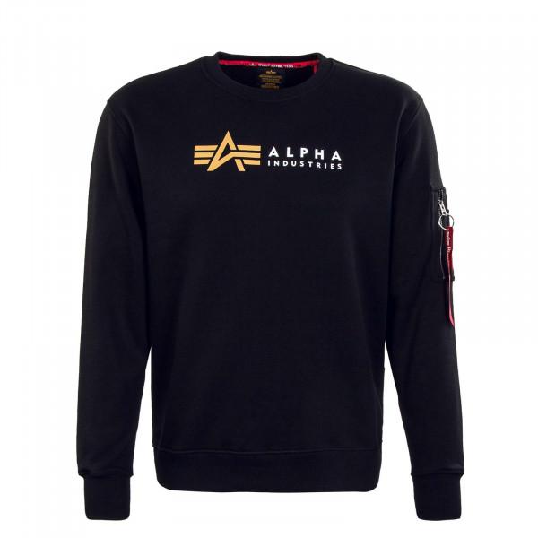 Herren Sweatshirt - Alpha Label - Black