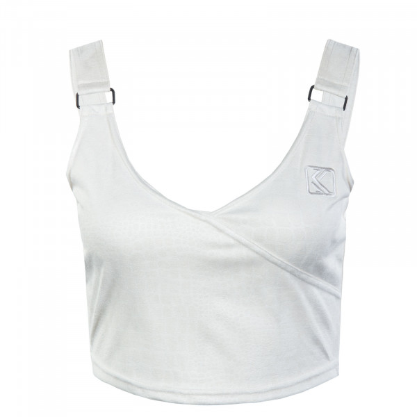 Damen Crop Top - Off White