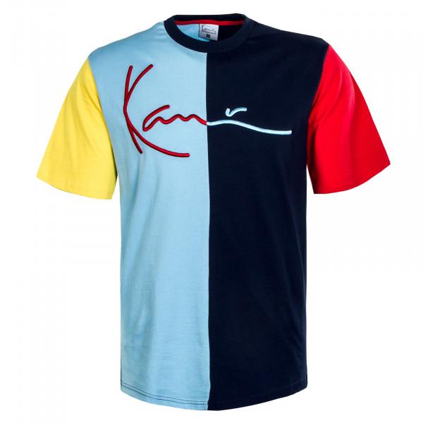 Herren T-Shirt - Signature - Navy / Red / Blue / Yellow