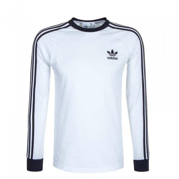Herren Longsleeve 3-Stripes T White Black