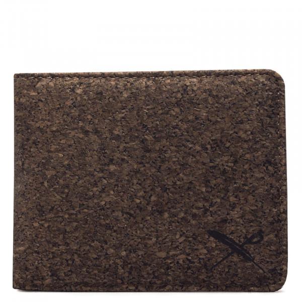 Wallet - Cork Flag - Dark Brown