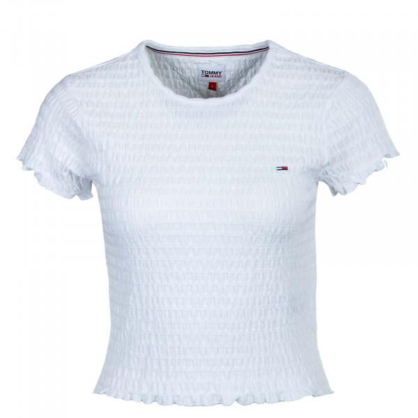 Damen T-Shirt - Crop Smock 10449 - White