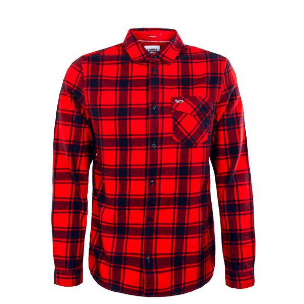 Herren Hemd - Flannel Plaid 11322 - Deep Crimson / Check