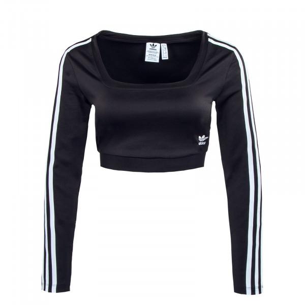 Damen Crop Langarmshirt - 37765 - Black