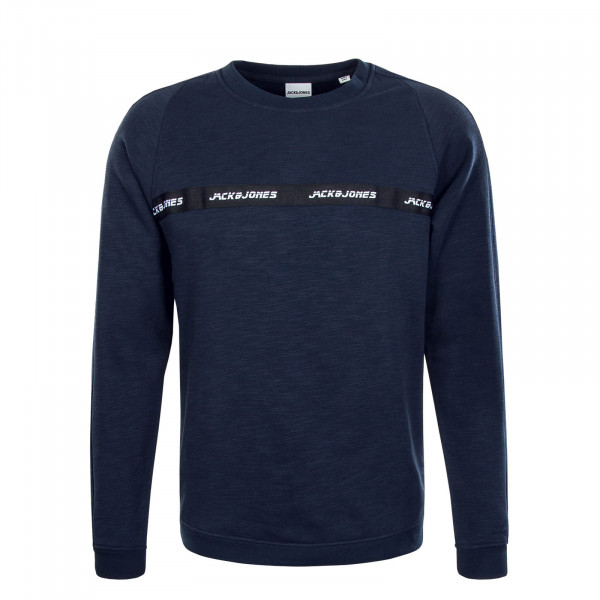 Herren Sweat Train Crew Neck Navy Blazer Melange