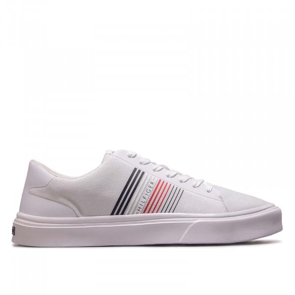 Herren Sneaker Lightweight Stripes Knit Sneaker White