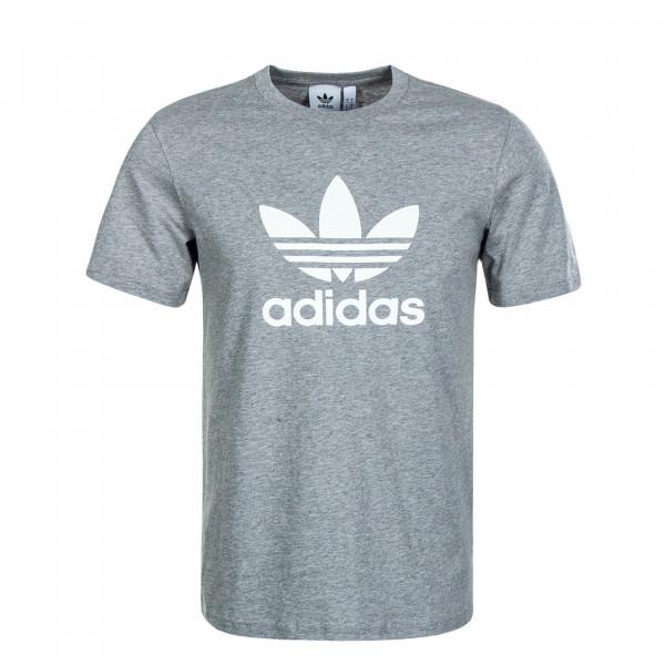 Herren T-Shirt Trefoil Grey White