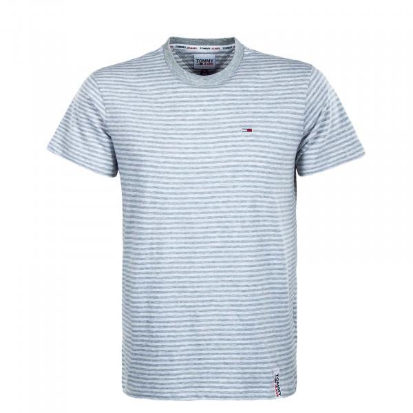 Herren T-Shirt - Stripe Tab Stripe - White / Htr / Grey