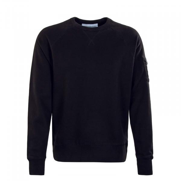 Herren Sweatshirt - Monogram Badge Utili Crew -Black