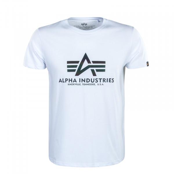 Herren T-Shirt - Basic Rainbow Reflective - White