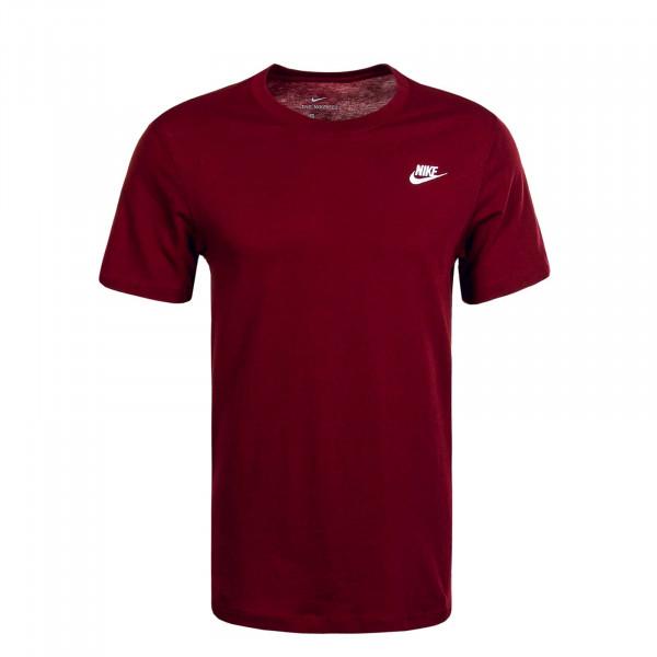 Herren T-Shirt NSW Club CW7393 Team Red