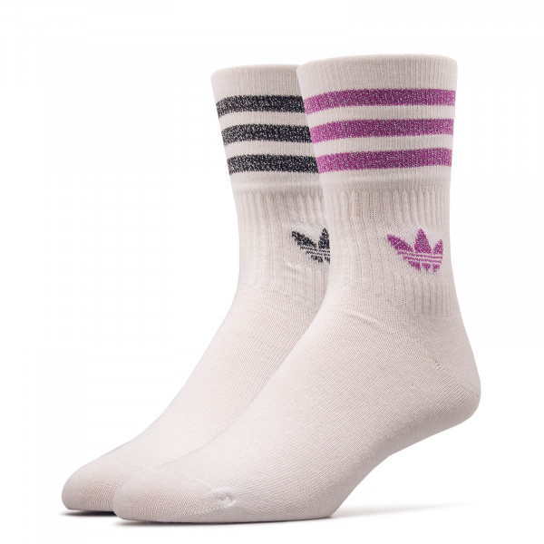 Socken 2er-Pack 9685 Mid Cut White