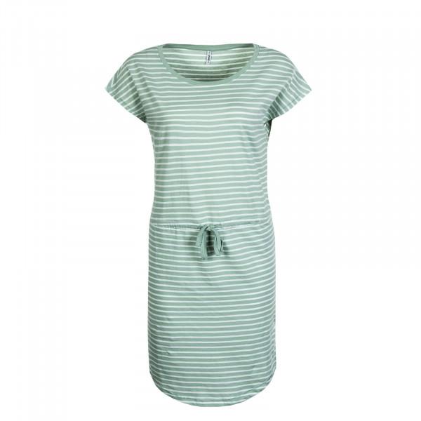 Kleid May Stripe Light Green White