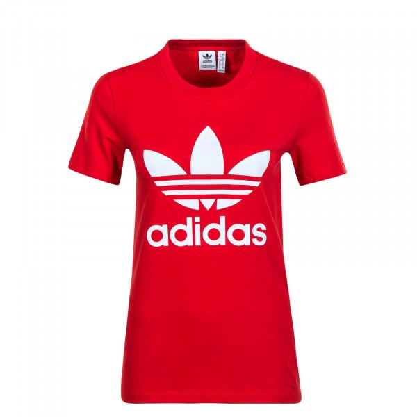 Damen T-Shirt Trefoil 3302 Red White