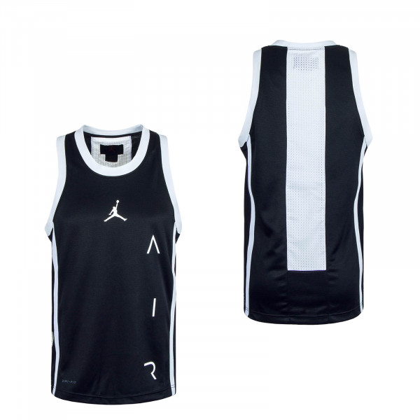 Air Basketball Tank Jersey Black White