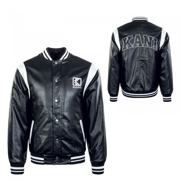 Herren Jacke - Fake Leather - Black