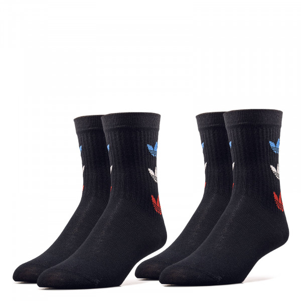 Socken 2er Pack - Tricolor Thin Ribbed - Black