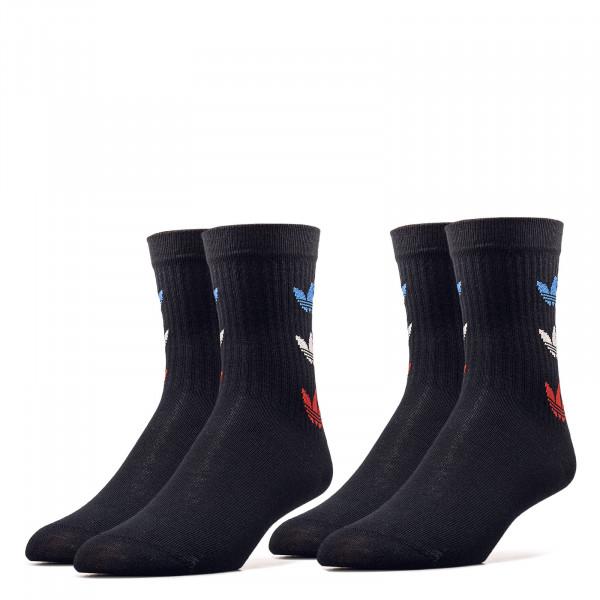 Socken 2er Pack - Tricolor Thin Ribbed - Black